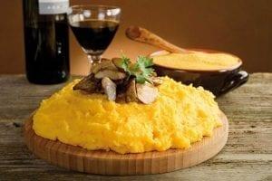 polenta with mushroom-polenta e funghi