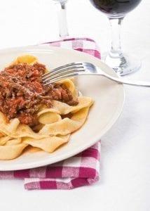 Tagliatelle with Bolognese Sauce. Tagliatelle alla Bolognese.