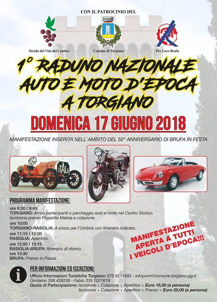 Torgiano – 1^ RADUNO NAZIONALE AUTO E MOTO DEPOCA – I Borghi più ...